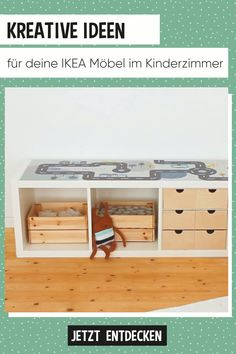 Gestalte dein Kinderzimmer neu With foils and Scandinavian designs that enhance your IKEA furniture and bring lots of fun for children. Discover what you can do with a KALLAX or BILLY shelf, the IKEA children's kitchen or a LACK table! Parents Room, Kids Room, Ikea Childrens Kitchen, Baby Room Boy, Billy Regal, Ikea Nursery, Ikea Boys Bedroom, Nursery Modern, Ikea Furniture
