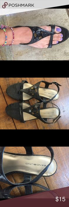 💕💕BANDOLINO Black sandals you love to wear it💕 Worned couple of times.  Leather lovely❣️ Bandolino Shoes Sandals