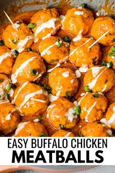 These easy to make and healthy buffalo chicken meatballs are tangy, creamy, spicy, and so delicious with the best kick. They are great made ahead of time for meal planning and meal prep for the week. The meatballs are gluten free, paleo, low carb, keto, and Whole30 too. #meatballs #lowcarb #whole30 #healthyrecipes Easy Paleo Dinner Recipes, Paleo Appetizers, Appetizer Recipes, Healthy Recipes, Spicy Recipes, Slow Cooked Chicken, Healthy Buffalo Chicken, Keto Chicken, Best Chicken Recipes