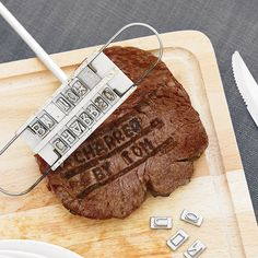 Personality Steak Meat Barbecue BBQ Branding Iron Letter Shape Mold Baking Tool for sale online Steaks, Gifts For Father, Fathers Day, Iron Gifts For Him, Bbq Party Decorations, Bbq Steak, Bbq Gifts, Alphabet, Thing 1