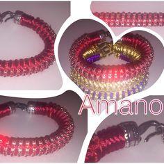 #bracciale#tubostrass#chainstrass#bijoux#jewels#bracelet#swarovski#handmade#fattoamano#red#rosso#ganciofinale#
