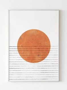 Simple art Burnt Orange print on Etsy - Wal Art, Beauty Illustration, Modern Prints, Simple Prints, Mid-century Modern, Diy Wall Art, Simple Wall Art, Simple Artwork, Paper Wall Art