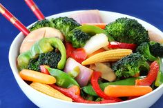 Ginger Vegetable Stir Fry. Very yummy!
