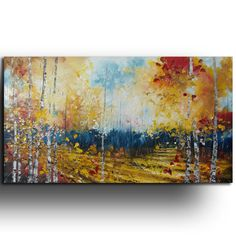 ORIGINAL Oil Painting Palette knife --- by Tatjana Ruzin  Landscape Painting Made to order