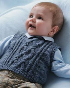 Knitted Boys and Girls Baby Sweater, Vest Cardigan Patterns Knitted Boys and Girls Baby Sweater, Vest Cardigan Patterns Welcome to the knitting vest models gallery. We have created beautiful male baby vest m. Baby Boy Knitting Patterns Free, Knitting For Kids, Baby Patterns, Free Knitting, Knitting Ideas, Marine Baby, Knit Baby Sweaters, Knitted Baby Clothes, Sweater Vests