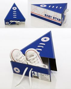 Cool packaging designed for Converse Baby Star shoes. When five boxes are placed…