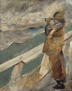 """Christian Krohg (1852-1925), """"På utkikk"""""""