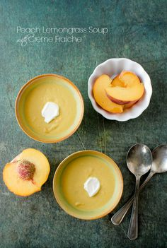 Peach Lemongrass Soup with Creme Fraiche- Boulder Locavore
