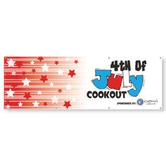 Custom printed x 13 oz. vinyl banners are strong so you can promote your business both indoors and outdoors. Vinyl Banners, Custom Banners, Promotional Banners, Patriotic Party, Custom Bags, Memorial Day, Party Favors, Party Supplies, Party Ideas