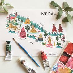 Ayang Cempaka - Nepal map