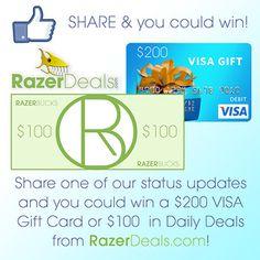 Win a $200 Visa Gift Card or $100 in Razer Deals!