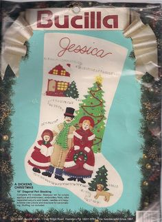 Your place to buy and sell all things handmade Christmas Stocking Kits, Felt Stocking, Christmas Stockings, Miniature Trees, Felt Embroidery, Sewing Basics, Family Dogs, Illusions, Sequins