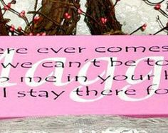 Winnie the Pooh Sign Promise me you will by thecountrysignshop