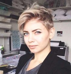 30 Simple Long Pixie Haircuts For Round Faces 2018