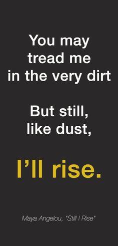 "Maya Angelou, ""Still I Rise"""
