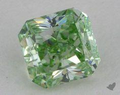 0.73 Carat fancy intense green-SI1 Radiant Cut Diamond