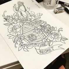 Risultati immagini per treasure chest tattoo Ocean Tattoos, Leg Tattoos, Body Art Tattoos, Sleeve Tattoos, Tattoos For Guys, Guam Tattoo, Aquatic Tattoo, Traditional Anchor Tattoo, Chest Tattoo