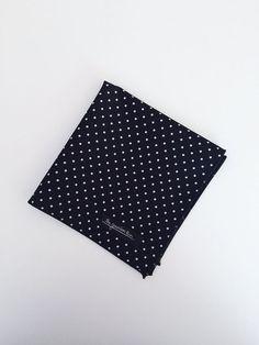 The Grunion Run : Groomsmen Shop - Black Polka Dot Pocket Square ($15)