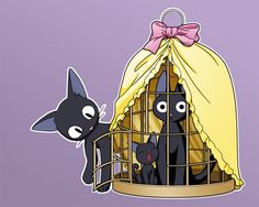 Jiji, kitty and toy by natale.deviantart.com on @deviantART