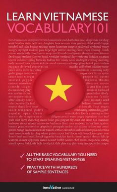 Learn Vietnamese - Word Power 101 by Innovative Language. $3.50 Vietnamese Words, Learn Vietnamese, Vietnamese Language, Learning Methods, Vocabulary Words, Learn To Read, Kindle, Ebooks, Reading