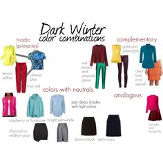 Dark Winter color combinations Source by pennyfrmhvn Clear Winter, Dark Winter, Winter Looks, Deep Winter Palette, Deep Winter Colors, Rock Chic, Red And White Outfits, Winter Basics, Winter Typ