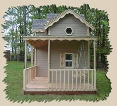 Wood Manor playhouses... i believe i want the big girl version please.. : )