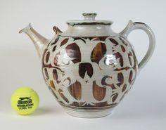 Alan Caiger Smith studio pottery monumental tin glazed teapot 1964