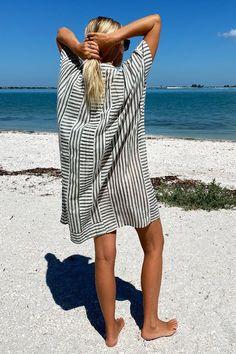 Emerson Short Caftan - Moss Stripe - Emerson Fry Emerson Fry, Tie Skirt, Silk Shorts, Striped Jacket, Mod Dress, Classy And Fabulous, Gray Dress, Celebrity Style, Celebrity News