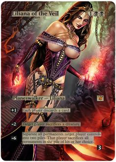 images Magic The Gathering Liliana of the Veil | LILIANA OF THE VEIL + FREE GIFTS INNISTRAD MTG ALTERED ART Pack ...