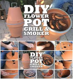 How to Make Flower Pot Grill and Smoker
