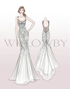 Willowby by Watters Spring 16 style 56658 Cristales
