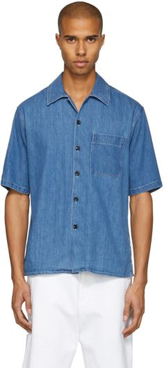 6cfc9acc753 This short sleeve denim shirt will make a great addition among the usual  long sleeve styles