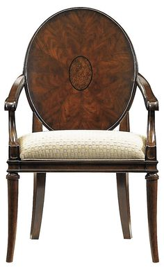 Oval Starburst Armchair, Cream/Gray | Love the Look | One Kings Lane