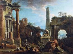 Marco Ricci (Belluno 1676-Venice 1730), Caprice View with Roman Ruins, 1729. Oil on canvas, 104.1 x 138.4 cm, RCIN 404141, Royal Collection Trust/ © Her Majesty Queen Elizabeth II 2016