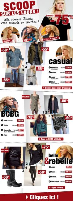 Scoop sur les looks / Novembre 2013 / Excedence.com  #EmailMarketing #DigitalMarketing #EmailDesign #EmailTemplate #SocialMedia #EmailNewsletters #EmailRetail #excedence #destockagemode