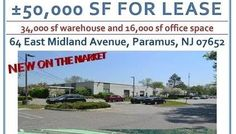 Warehouse and Office Space in Paramus, NJ for Lease