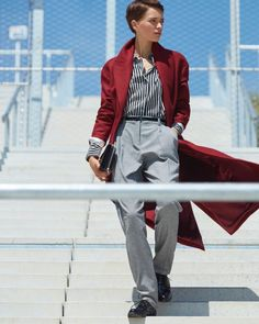 Loane Normand Models Menswear Inspired Looks For ELLE France