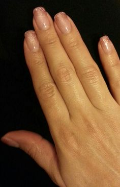 Jessica GELeration pale pink glitter ombre. Created at Demi's Nails in Rio Rancho.