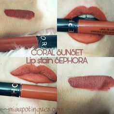@sephora LIP CREAM STAIN 25 #creamlipstain #coralsunset #lipstain #sephora #redlip