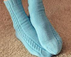 KNITTING PATTERN Araluen Socks Adult Small Medium Large | Etsy 400 M, Needle Gauge, Fingering Yarn, Fingerless Mitts, Knit In The Round, Stitch Markers, Knitting Patterns, Pdf, Socks