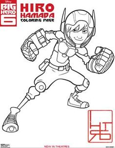 BIG HERO 6 – New Activity Sheets & Coloring Pages!
