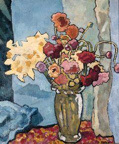 Louis Valtat - Fleurs dans un vase, 1939.