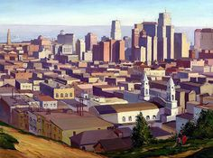 Ray Strong: San Francisco from Russian Hill, 1934