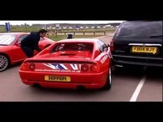 """Sarah Harding (from British and Irish Pop Girl Group - """"Girls Aloud"""" driving a Ferrari on an edition of """"Fifth Gear""""."""