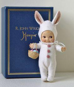 R. John Wright KEWPIE BUNNY #88/250 6 inches Felt Easter - Pristine NRFB NEW  #RJohnWright