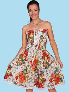 c4a8c253d Just add boots to the fun n  sexy Bouquet Mess  Women s Western Scully®  Dress will turn those cowboy hats
