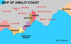 Basic Map Of Italy.Location Map Showing Amalfi Coast In Italy In 2019 Travel