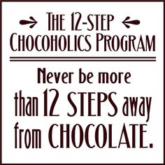 I'll join this 12 step program today!!
