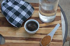 Denicolas BBQ sauce, wet or dry pictured with secret ingredient.....water!