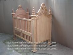 Unfinished mahogany Furniture,  Victorian crib ( baby bed ) , made of fine solid kiln dry mahogany wood. Present in unfinished furniture condition ( raw furniture, ready to painted or no color stain finished ). Please contact us Antiques Indonesian Furniture supplier, French style furniture, Italian style furniture, English style furniture : Email :dianabadi@hotmail.com Facsimile & Phone : + 62 291 591187  www.unfinishedfurniture.indonetwork.co.id